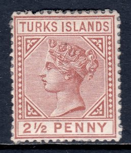 Turks Islands - Scott #49 - MH - See description - SCV $35