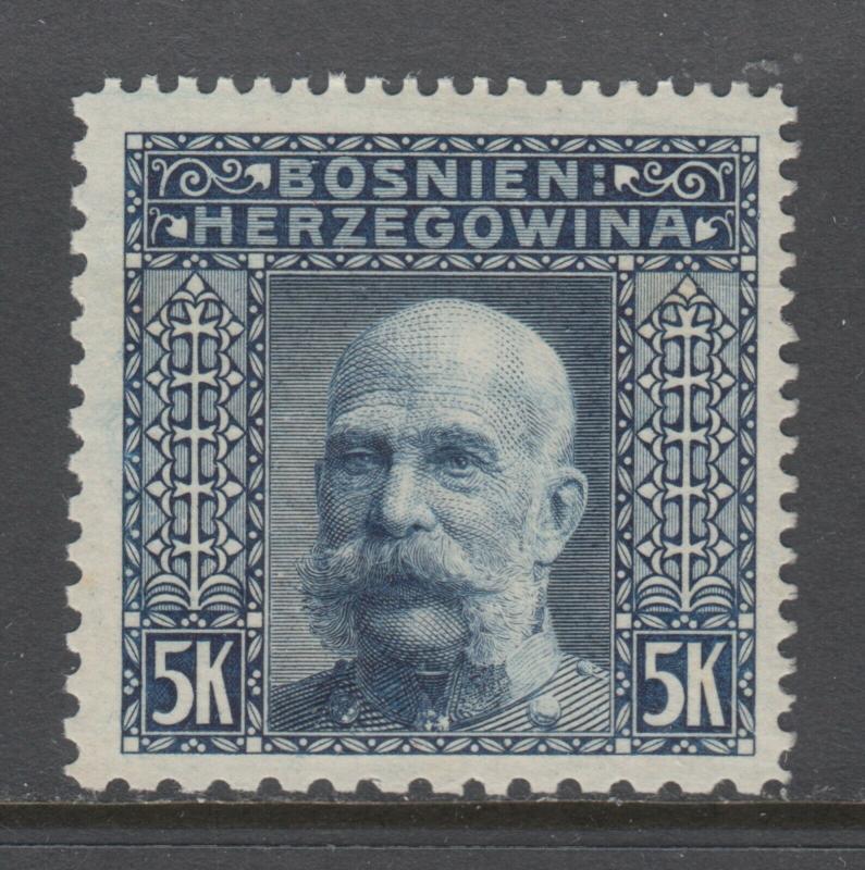 Bosnia & Herzegovina Sc 45l MNH. 1906 5kr Franz Josef, Perf 12½x12½x9¼x10½, CERT