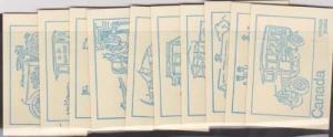 Canada - #BK71a - Set of 10 Complete Centennial Booklts With Ten Diff. CoversCpl