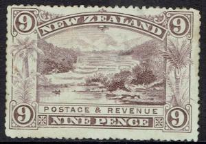 NEW ZEALAND 1898 PICTORIAL 9D NK WMK PERF 12-16