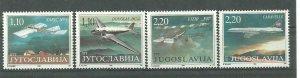 YUGOSLAVIA 1995  Museum exhibits * Aviation set MNH