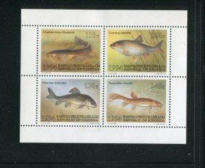 Kyrgyzstan MNH M/S 51a Fish 1994