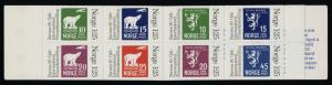 Norway 733 Booklet MNH Polar Bear, Aircraft, Stamp on Stamp