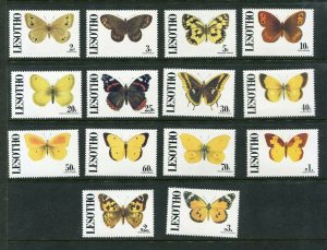 Lesotho #827-840 Butterflies Mint Never Hinged