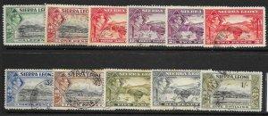 SIERRA LEONE SG188/96 1938-44 SET TO 1/= USED