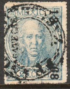 MEXICO-Zacatecas 54, 25¢ 13-68 THIN FIGURES W/O DOT. USED. F-VF. (92)