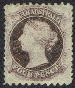 SOUTH AUSTRALIA 1876 QV 4D WMK BROAD STAR PERF 10 X 12.5