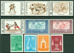 EDW1949SELL : THAILAND 1959-66 Sc #333-36, 457-58, 460-63 Cplt sets MNH Cat $98.