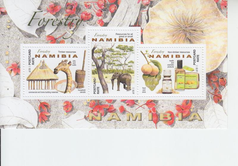 2016 Namibia Forestry SS (Scott 1336) MNH