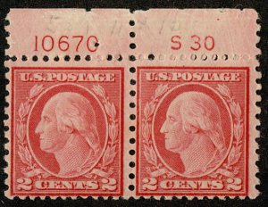 US US #540 PLATE NUMBER PAIR with S30, VF mint never hinged, super fresh colo...