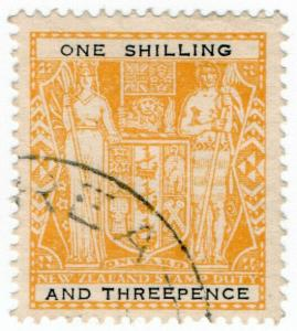 (I.B) New Zealand Revenue : Stamp Duty 1/3d (black type)