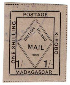 (I.B) Madagascar Postal : British Inland Mail 1/- (Kirobo)