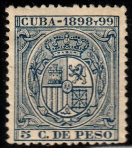 1898-99 Cuba Stamps 5c Shield of Spain Unlisted NEW