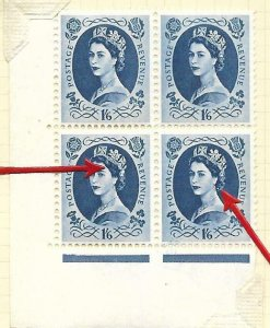 S151a & b 1/6 Wilding Edward Wmk with listed varieties UNMOUNTED MINT