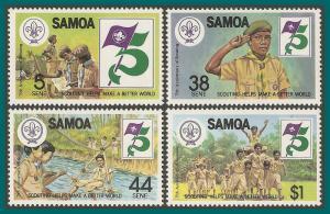 Samoa 1982 Boy Scouts, MNH 575-578,SG620-SG623