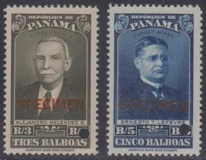 PANAMA 1943 Sc C80-C81 FULL SET OF PERF PROOFS + SPECIMEN MNH F,VF
