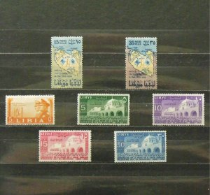 6199   Libya   MH # 95, 169, 170, 171, 172, 173, 174      CV$ 9.20