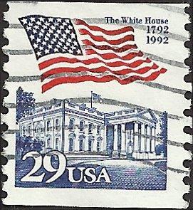 # 2609 USED FLAG OVER WHITE HOUSE