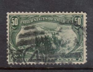 USA #291 VF Used With #4 Cancel