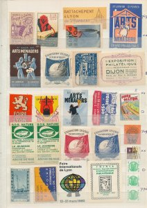 France Lille Annecy Maritime Expo Old Poster Labels(Appx 100+)W2244