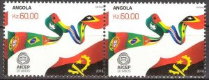 Angola 2010 Organisation AICEP Flags pair MNH