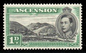 Ascension 1938 KGVI 1d Green Mountain SG 39 mint CV £45