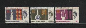 SOLOMON ISLANDS #171-173  1966 UNESCO ANNIV. ISSUE      F-VF  USED