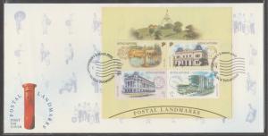 2000 Postal Landmarks, Singapore Post Centre MS FDC SG#MS1036