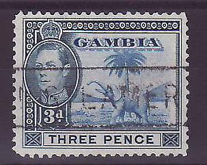 Gambie Gambia Cancelled Steamer 3 p Elephant Posted on steamer