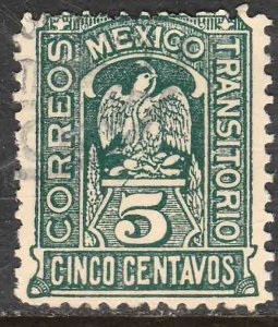 MEXICO 369, 5c Transitorio. Revolutionary Issue. Used. F-VF. (978)