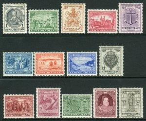 NEWFOUNDLAND-1933 Sir Humphrey Gilbert. A mounted mint set Sg 236-249