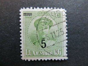 A4P27F85 Letzebuerg Luxembourg 1925-28 surch 5c on 10c used
