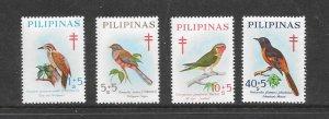 BIRDS - PHILIPPINES #B36-39  MNH