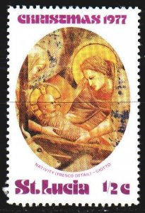 St Lucia. 1977. 420 of the series. Christmas. MNH.