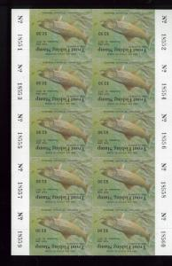 MARYLAND TROUT FISHING STAMP 1977 MINT Full Sheet Of 10 - BBB