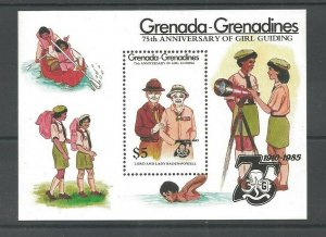 1985 Scouts Grenada Grenadines Girl Guides 75th anniversary SS