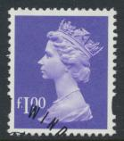 Great Britain SG Y1743 Sc# MH237    Used with first day cancel - Machin £1
