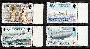 CAYMAN ISLANDS - 50th Anniversary of the End of WWII - 1995 SG 805 -808 CV £8