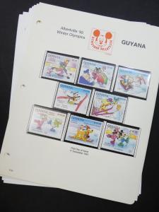 EDW1949SELL : GUYANA Beautiful collection of VF MNH Disney sets, S/S & Shtlts