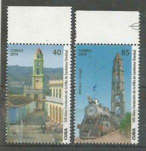 Cub2014 500th Anniversary of Trinidad City Fundation 2v MNH