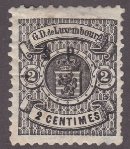Luxembourg O45 Coat of Arms O/P 1881