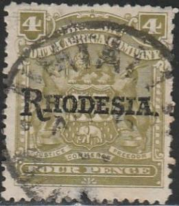Rhodesia, #87 Used From 1909