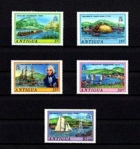 ANTIGUA - 1975 - NELSON'S DOCKYARD - SHIP - WAR CANOE - YACHTS + MINT - MNH SET!