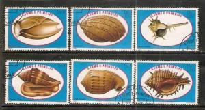 Sao Tome E´ Principe 1981 Sea Shells Coneshells Marine Life Sc 605-10 Cancel...