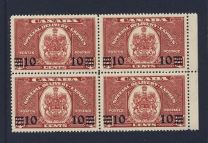 4x Canada Mint S.D.  stamp #E9-10c/20c Provisional MGD F/VF Guide Value= $36.00