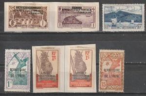 French Colonies Mint OGH & on paper