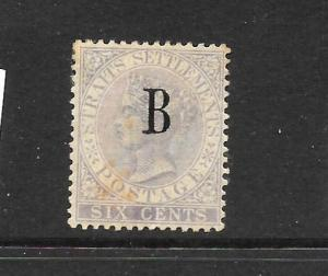 BANGKOK 1882-85  6c LILAC  QV  MH    SG 19