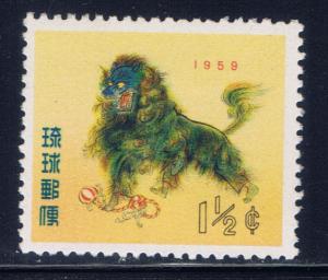 Ryukyu Is 55 MNH 1957 New Years