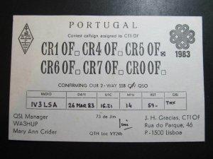 9786 Amateur Radio QSL Card LISBOA PORTUGAL