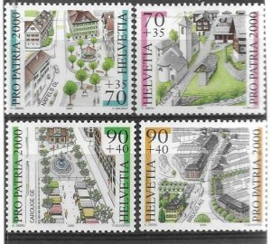 2000   SWITZERLAND  -  SG.  1445 / 1448  -  TOWNSCAPES ZOO  -  MNH